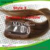 Poly skin base closure virgin filipino hair clip on top closures 5x5 20inch 150% thick density