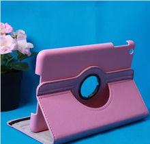 2014 high grade pu leather litchi pattern rotatable case for ipad mini