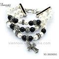viennois nuovo prodotto perla bracciale largo gioielli braccialetto croce