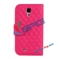 BRG- Good price Nets style leather case for s4,wallet stand cover for samsung galaxy s4
