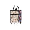 2015 fashion folding shopping trolley bag with six wheel