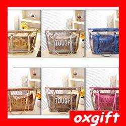 OXGIFT candy summer bag ladies beach bag women transparant handbag