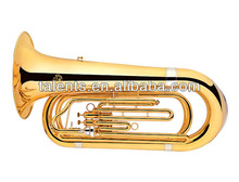 3-valve marching tuba gold lacquer finish