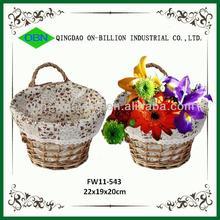 Wholesale hanging flower decorated basket