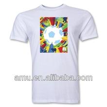 Popular white organic cotton tshirt World cup boys fashion t shirt