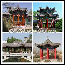 Shingle glazed ceramic corrugated Chinese flat red clay tile roof
