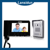 2014 china wholesale slim touch screen 7 inch TFT LCD color video door phone 2 family