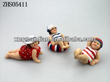 3pcs/set fat Woman Figurine decoration