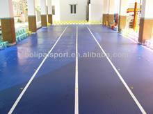 Rubber running track mat