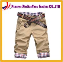 Khaki Cargo shorts with Belt Mens 3/4 promotional Cargo Shorts