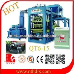 Cement block machine production line/block making machine/paver brick machine QT6-15