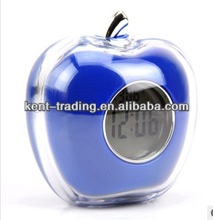 crystal apple shape alarm clock talking clock digital desk clock