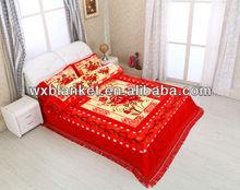 100% polyester Korean Raschel style bed sheet set