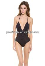 high quality girls extreme black swimwear bikini