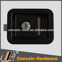 nero rivestito cassetta degli attrezzi levetta di blocco a filo con guarnizione