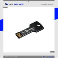 metal key style usb memory drive , black 1gb usb key , company gift usb pen drive