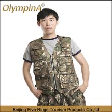 2014 factory produce wholesale camo shooting hunting fishing mens designer waistcoats