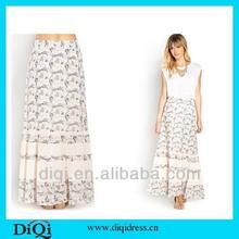 latest design fashion maxi long skirt for ladies, new design fashion maxi printing dress