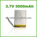 Tablet pc batteria di ricambio 3.7v 5000mah, batteria ricaricabile 3.7v 5000mah, 5ah batteria al litio