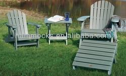 Hamilton Adirondack Chair & Ottoman Set - Coastal Teak