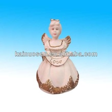 ceramic music angel dinner bell for sale