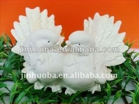 New white resin lovely dove couple sculpture & dove crafts for decoration