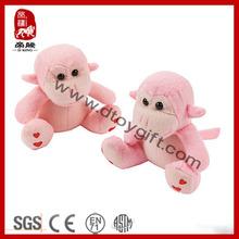 Hot Selling Plush Wild Animal Stuffed Soft Valentine Monkey with Heart Pattern Birthday Gift Plush Toy