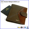 Real Leather Passport Cover Holder Business Credit Card Case Brown Wallet Travel