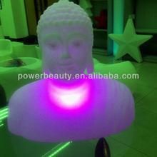 colorful led buddha solar light PE plastic