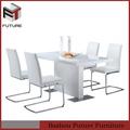 2014 moderno em madeira de cor creme da sala de jantar mesa e cadeiras