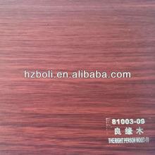 Rolo de filme pvc, folha pvc para móveis, grão de madeira decorativa filme 81003-09