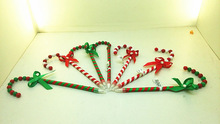 2014 new design Christmas customized candy cane ball pen