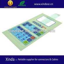 multi-color graphic overlay small membrane keypad
