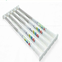 Folding thick metal resin finials curtain rods