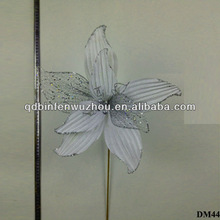 New artificial Flowers Glitter wholesale christmas for Home decoration 2014