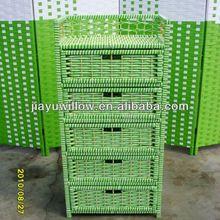 100%handmade wholesale solid wood kitchen cabinet basket