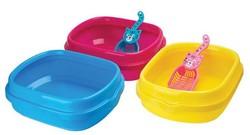 2014 new design high quality plastic cat litter tray pet cat product