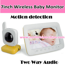 Wireless Nightvision Baby Monitor - VOX Two Way Audio, Motion Detection, 7 Inch LCD Screen