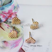 wow!!! cheap alloy heart set peal earrings colors peal stud earrings jewelry mother gift
