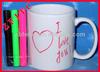ceramic coating mug with water color pen