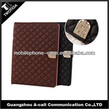 Big diamond leather case for ipad 5 rhinestones leather case for ipad 5 with diamond tablet case for ipad 5