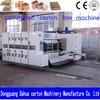 high speed carton box printing slotting die cutting making machine