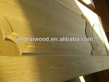 Commercial Molded ash or teak Door Skin for Funiture, 3mm,natural wood or EV face or Melamine paper