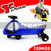 NEW STURDY & SAFE SWING CAR SLIDER KIDS FUN RIDE ON TOY COLOR BLUE - 80X35X41CM