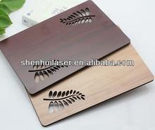 Custom Wood engraved luggage hang tag,wooden luggage tag
