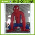 Publicidade inflável cartoons/aranha inflável- homem, personalizado desenhos animados infláveis
