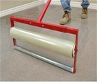 Carpet plastic film with transparent color