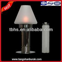Ellysha Glass Top Wick Oil Table Lamps
