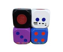 bluetooth TF card speaker USB Flash drive speaker Lovely Dice speaker with volume control