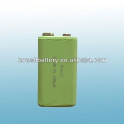 High capacity generic 9V NiMH battery/Recharge up to 1000 times